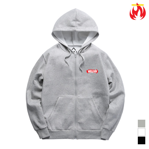 Burning Fire Hellvn Zip-Up Hoody - H8C-402 - 후드집업