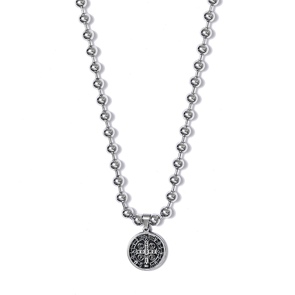 Crump surgical steel big ball necklace(CA0016)