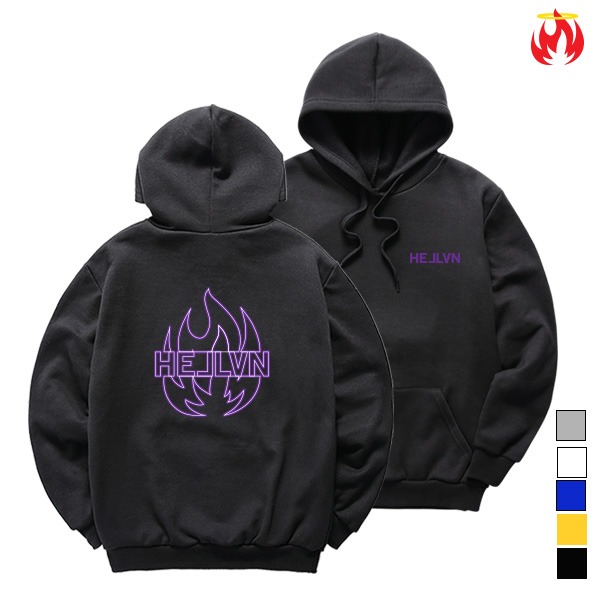Purple Fire Hellvn Hoody shirts - 후드티 <SBHH8S-001>