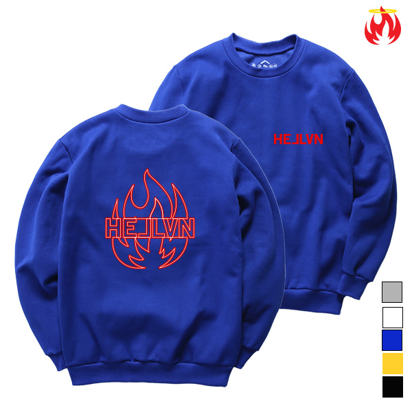 Purple Fire Hellvn Sweatshirts - 맨투맨 <SBMH8S-001>