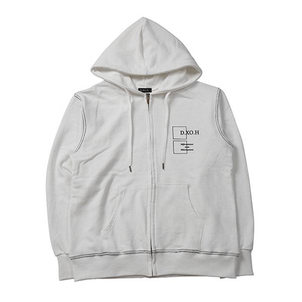 DXOH hoodie zip-up [ white ]