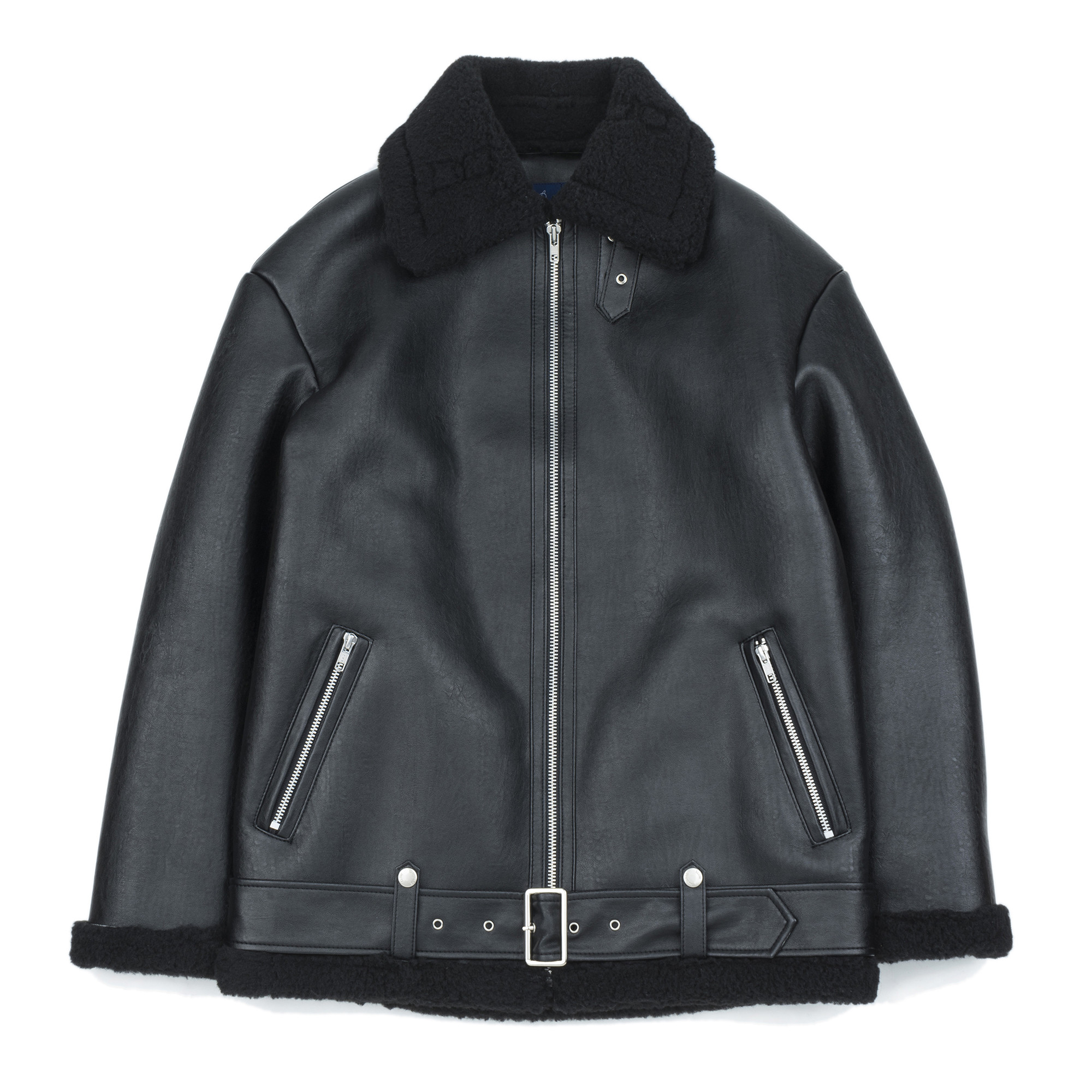[슬로우유니버스] (유니섹스) 타입 비-3 무톤 재킷 (블랙)
