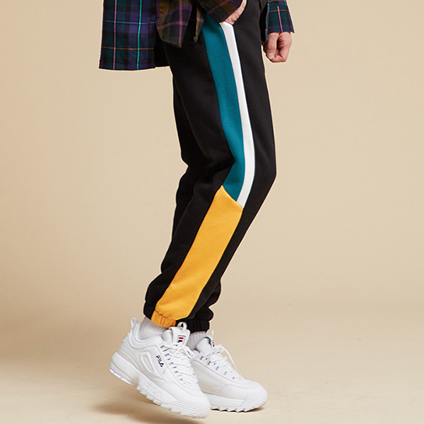 LINE SWEAT JOGGER PANTS BLKGRN