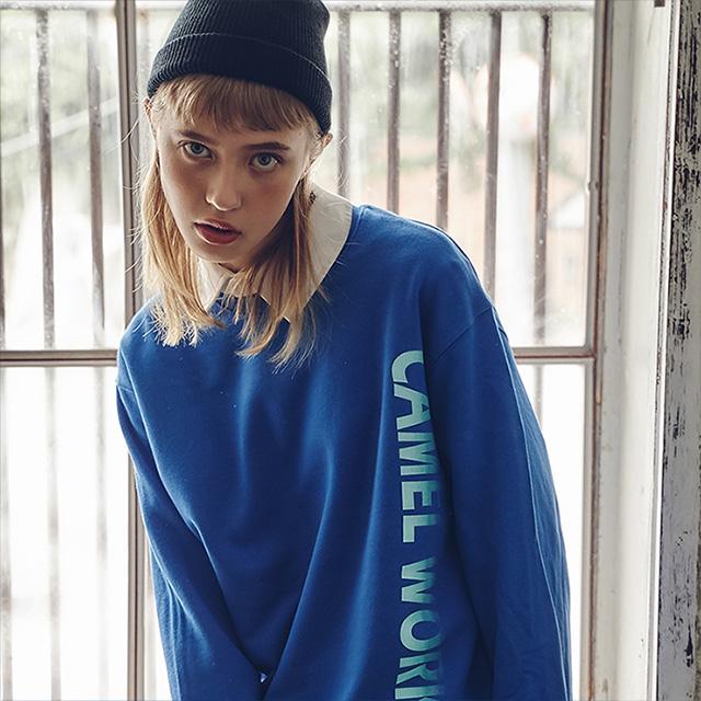 Long Logo Sweatshirts(Blue)