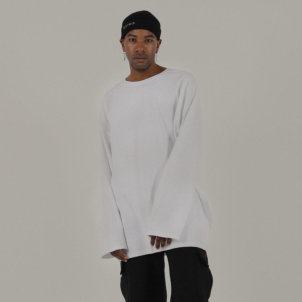 LAYERED LONG TEE (white)