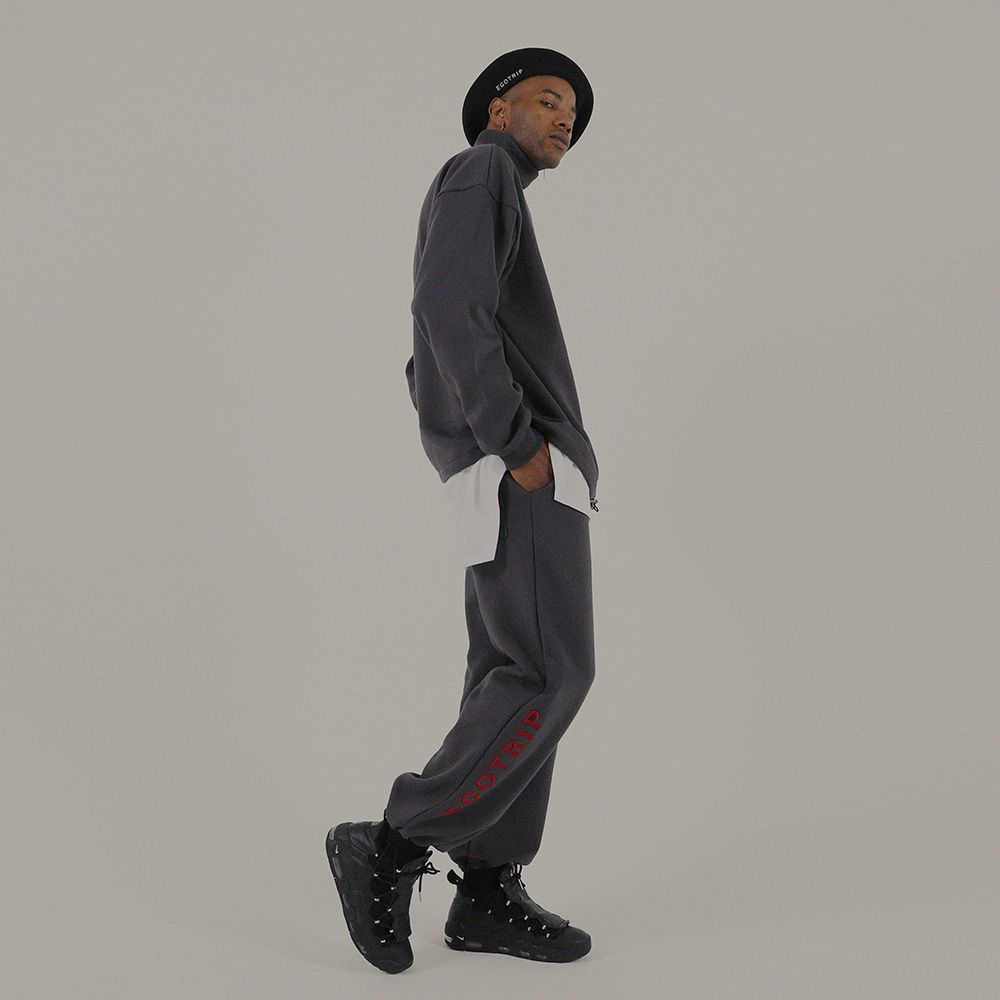 LOGO JOGGER PANTS (gray)