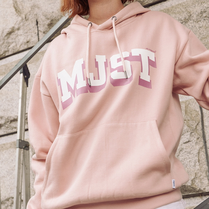 [MAJESTIC] ML183UCAMT009 MJST 로고배색 후디드 스웨트셔츠 (핑크)