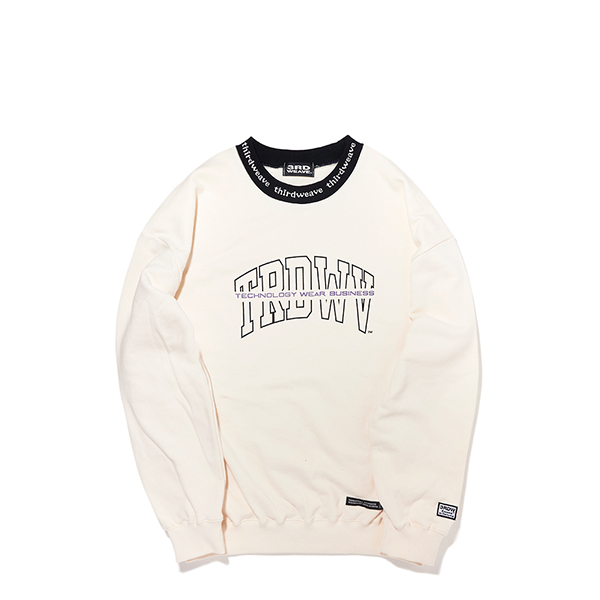 ARRANGE CREW NECK SWEAT / CREAM