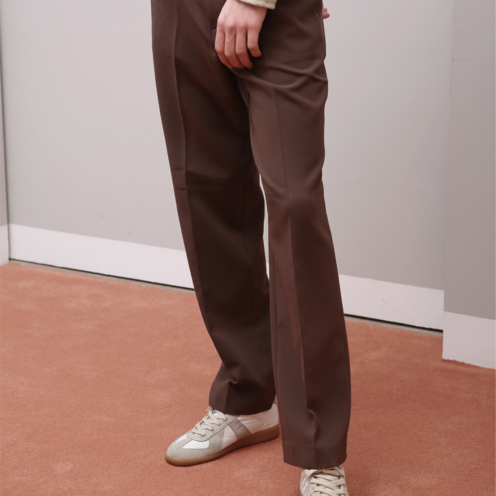 UNISEX MORDEN WIDE SLACKS BROWN