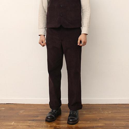 Corduroy Pants -Brown-