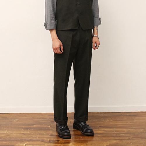 Wool Pants -Khaki-