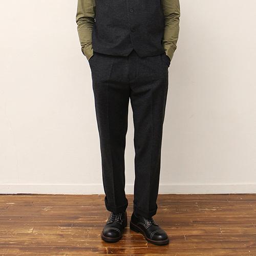 Wool Pants -Charcoal-