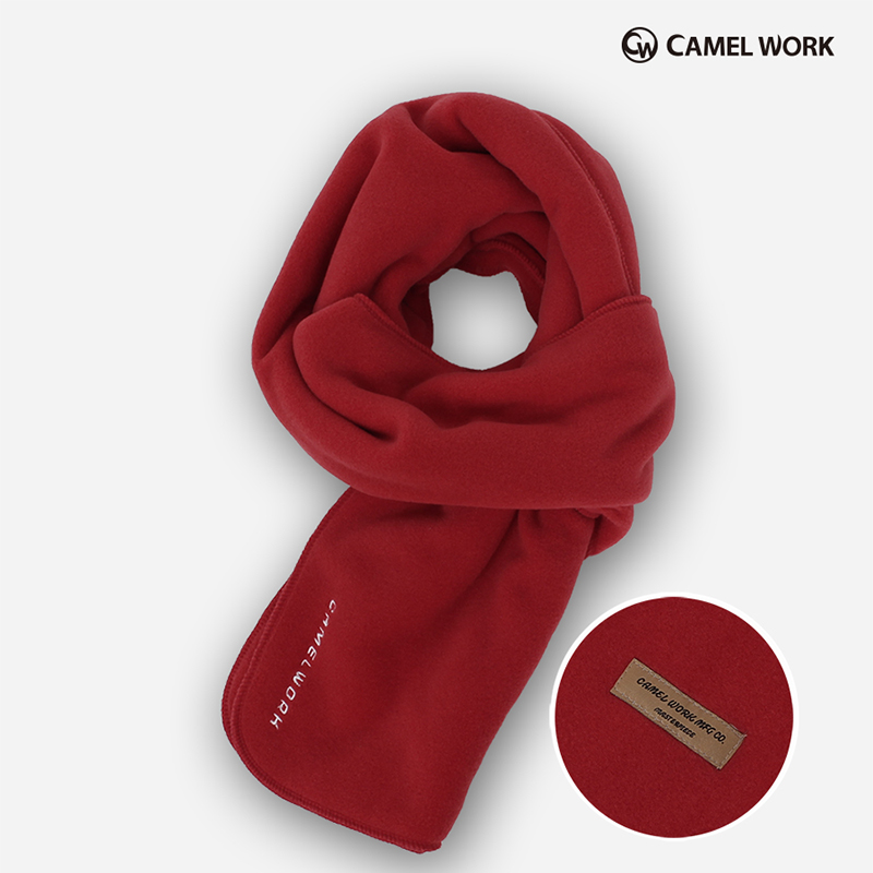 Reversible Fleece Muffler(Red)