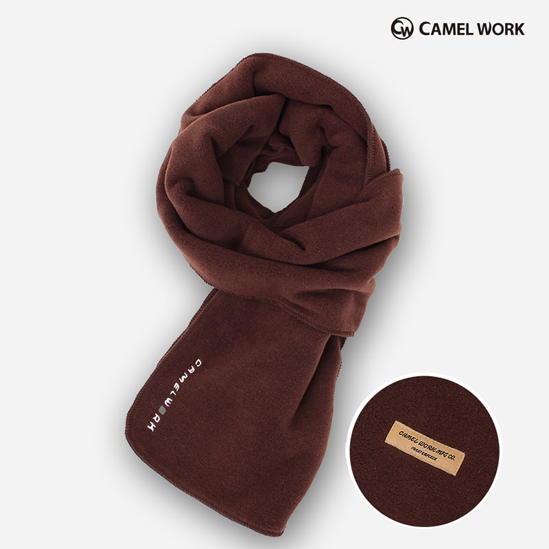Reversible Fleece Muffler(Brown)