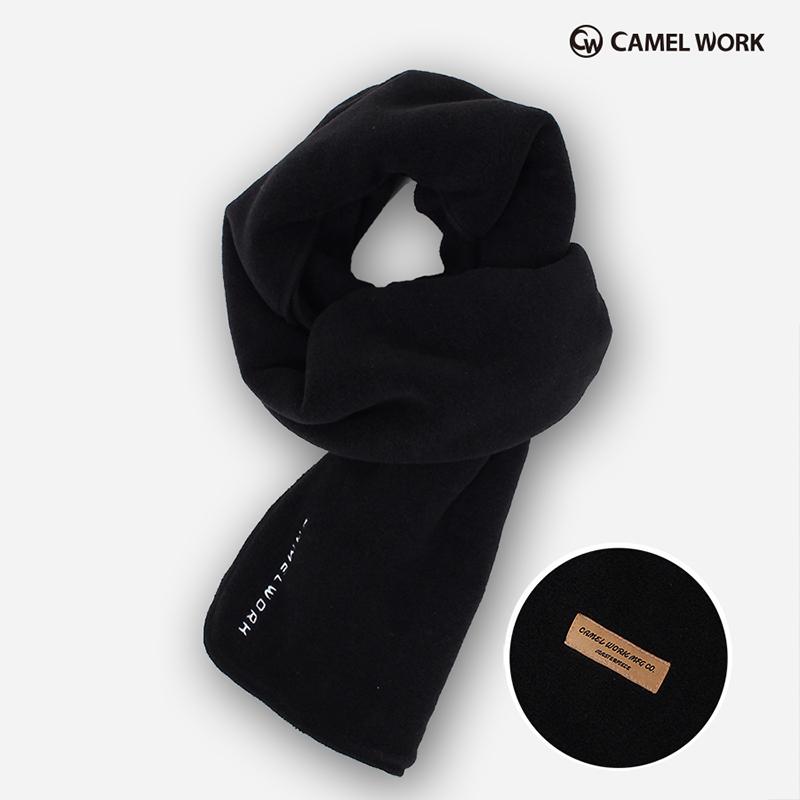 Reversible Fleece Muffler(Black)