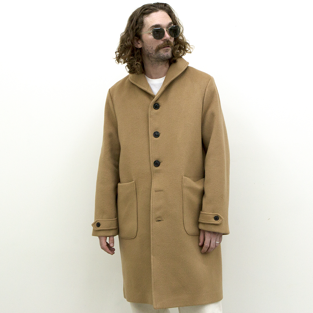 Shawl Collar Coat -Camel-