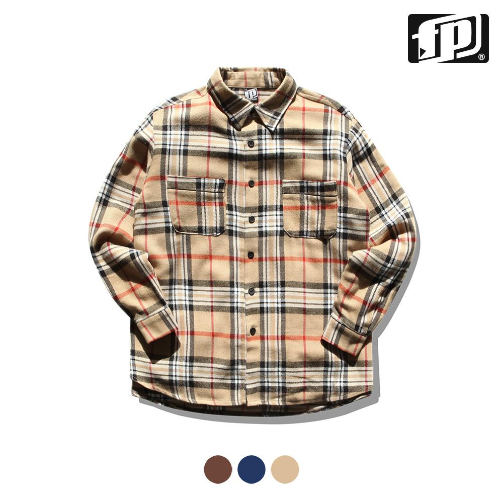 [페플] 파이핑투포켓 셔츠 베이지 KHLS1148