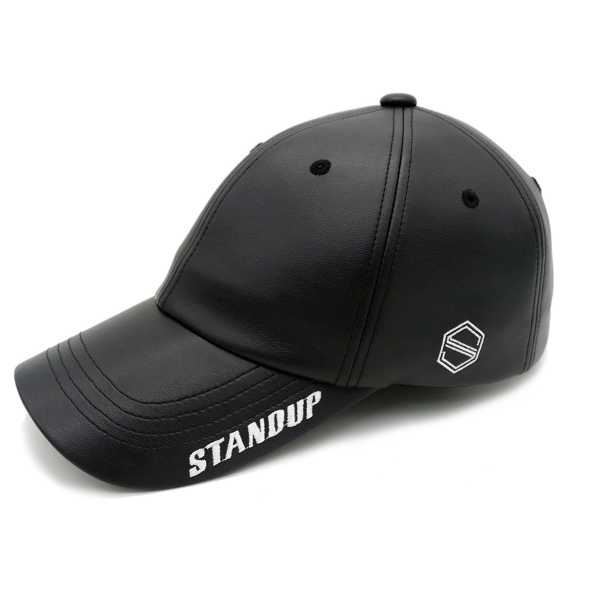 [스탠드업] 바이저스탠드업탑스킨 블랙 컬러 볼캡(레귤러핏)
