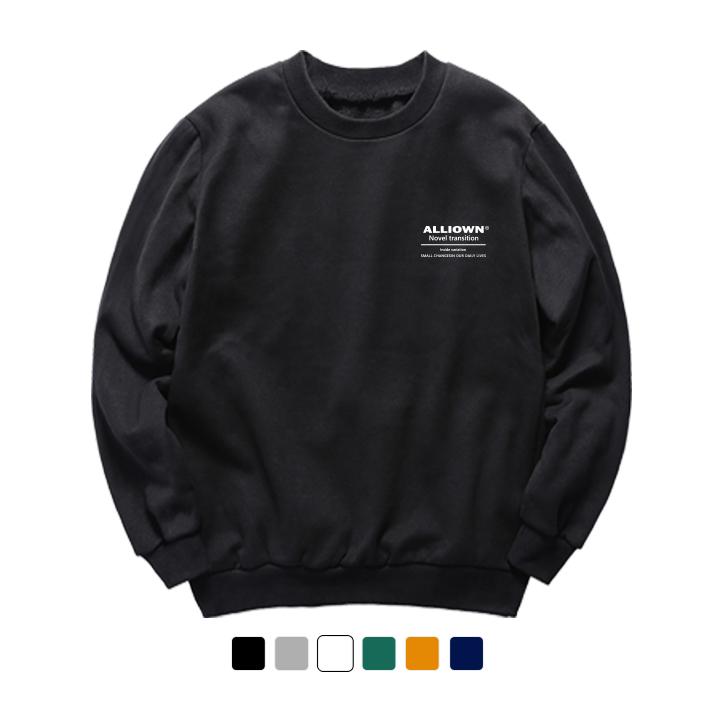 올라온 - UNDERLINE - 기모 맨투맨 - (SBMA8S-034) - 6Color