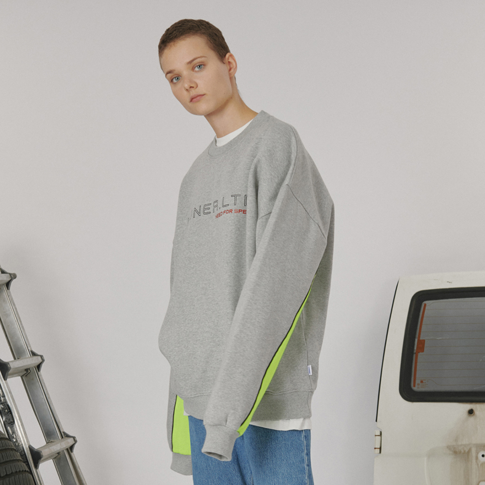 [로너] Sleeve point sweatshirt -gray
