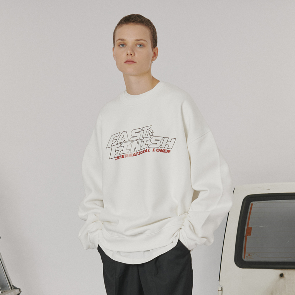 [로너] Fast and finish sweatshirt -white