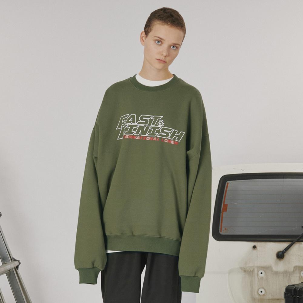 [로너] Fast and finish sweatshirt -khaki