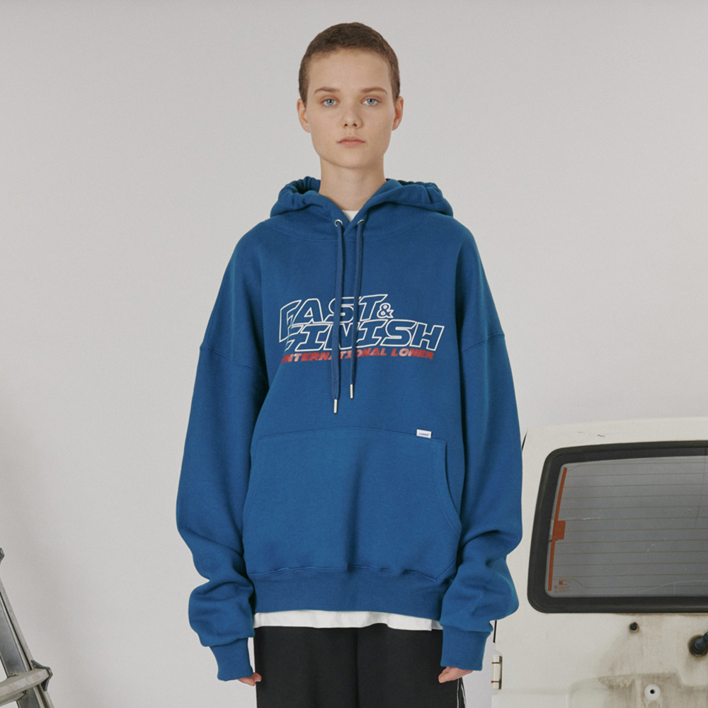 [로너] Fast and finish hoodie -blue