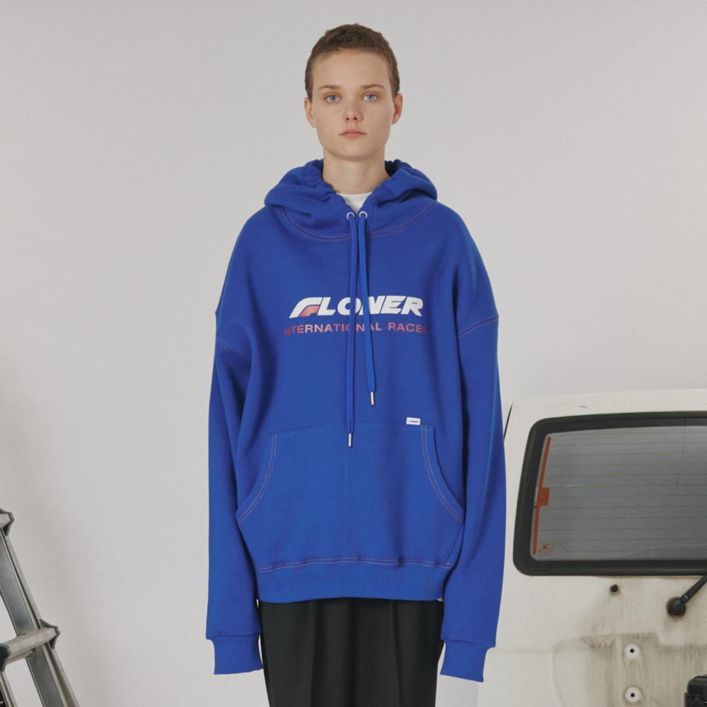 [로너] Stitch point hoodie -blue