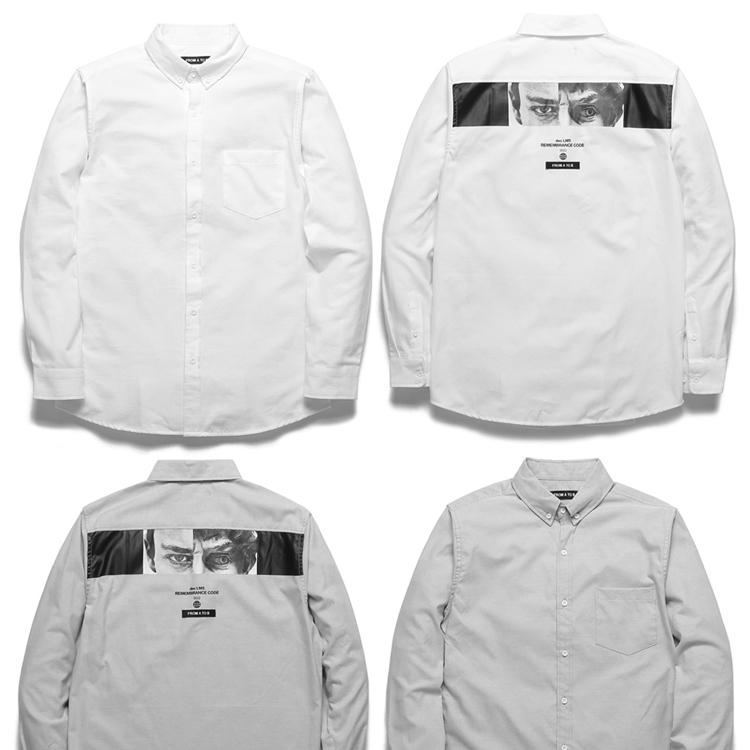 FROMATOB 프롬에이투비 셔츠 TOB18ZLS506 유니섹스 백 아이즈 옥스퍼드 셔츠 2COLOR