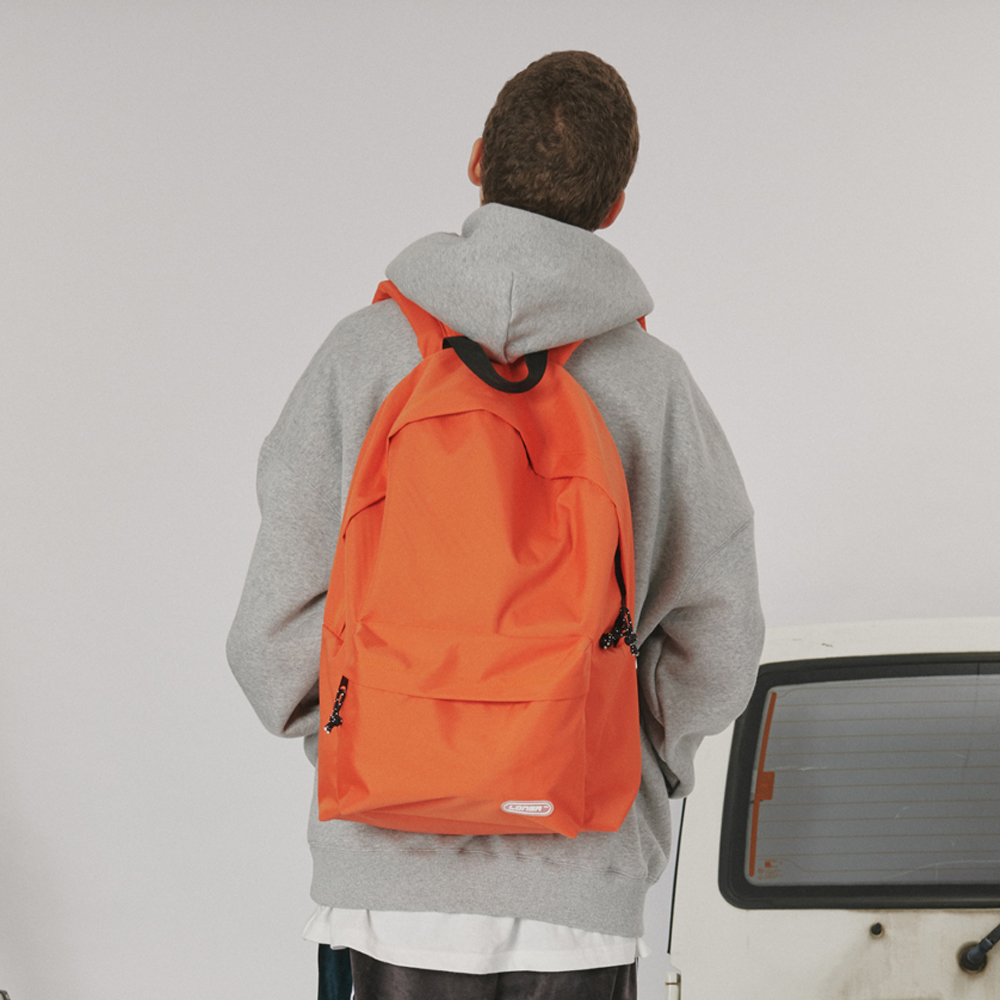 [로너] Rubber logo backpack -orange