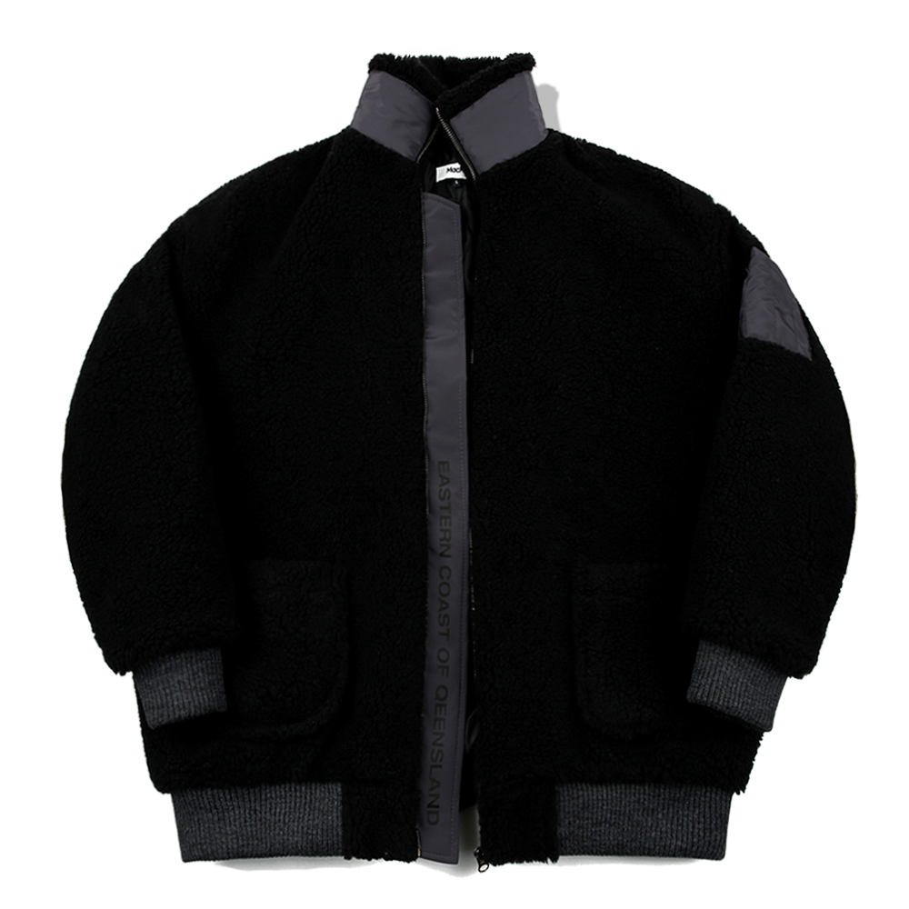 [단독할인]MKY Dumble Boa Oversize Jacket Blackgray