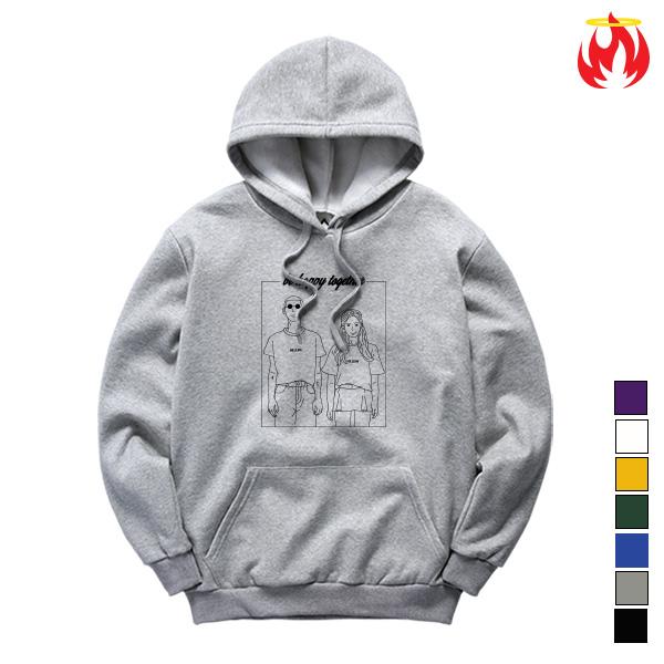 Be Happy Together Hellvn Hoody Shirts - 후드티 <SBHH8S-013>