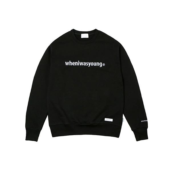 시그니처 로고 스웨트셔츠 (블랙)