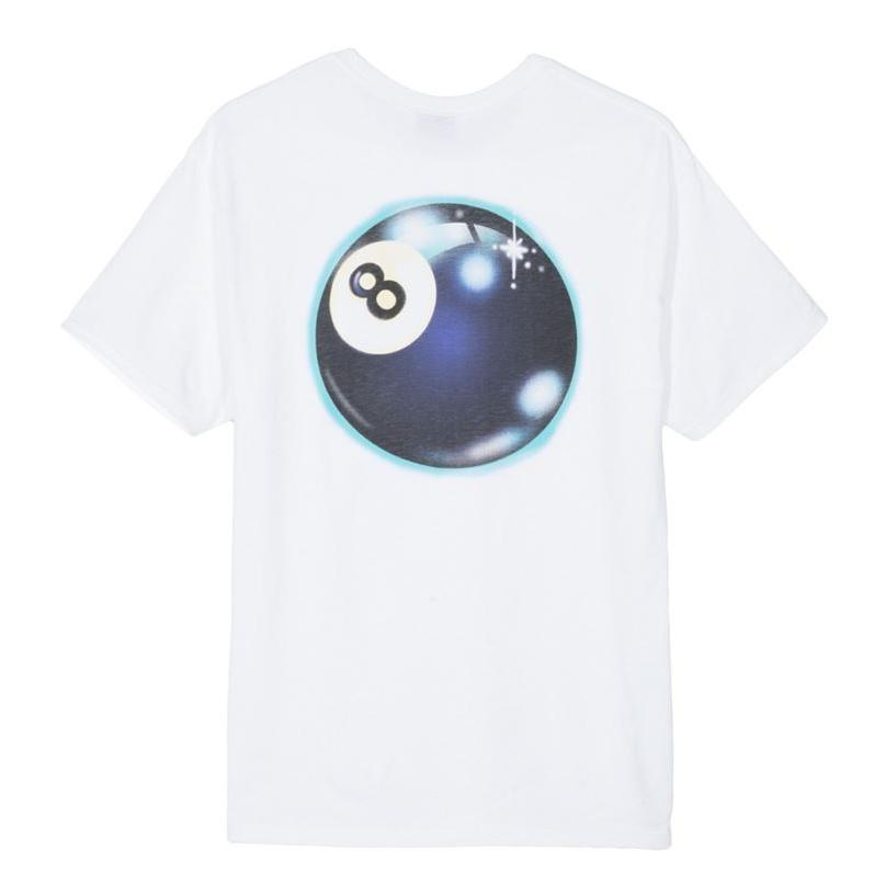 [STUSSY] 스투시반팔 MYSTIC 8 BALL TEE 1904305 WHITE
