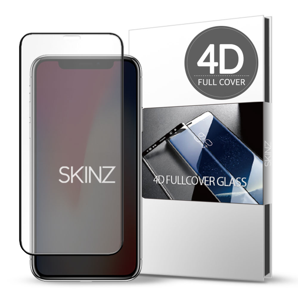 스킨즈 아이폰X 4D 풀커버 강화유리 필름 (1장)