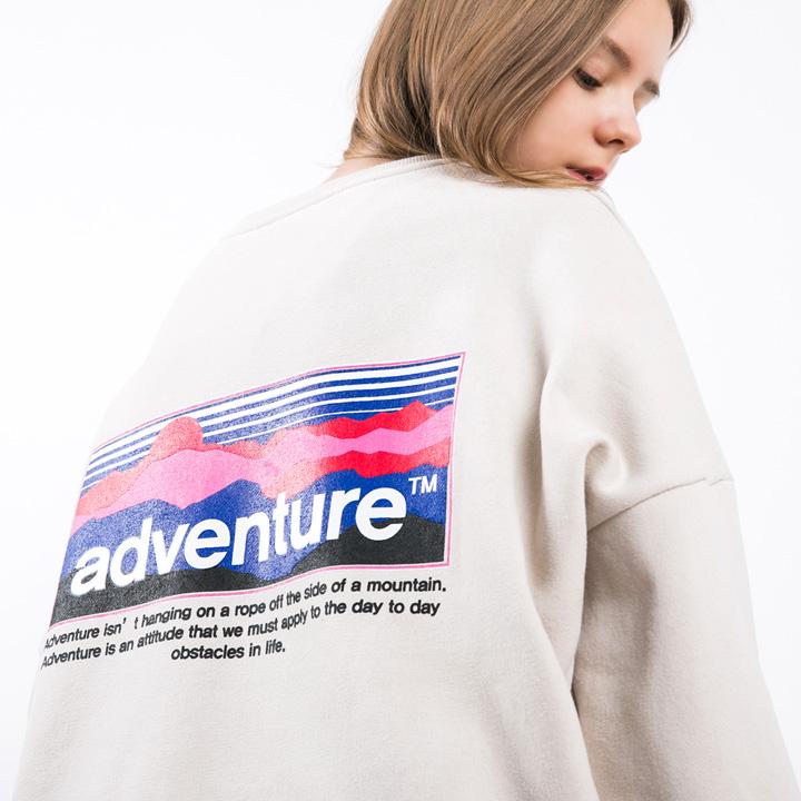 [단독할인]플루크 마운틴 선셋 오버핏 맨투맨티셔츠 FMT3009 / 3color