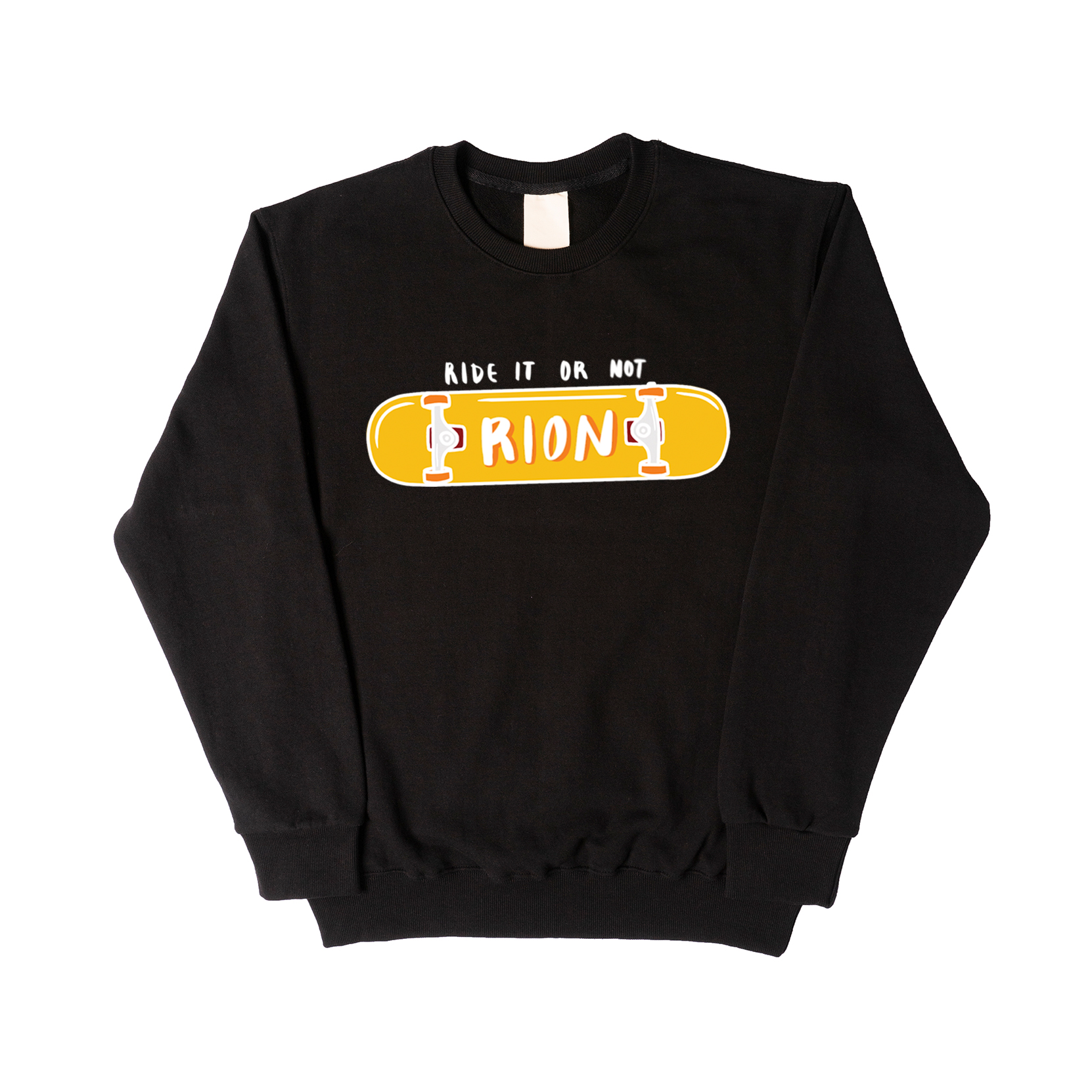 SKATEBOARD BLACK SWEATSHIRT