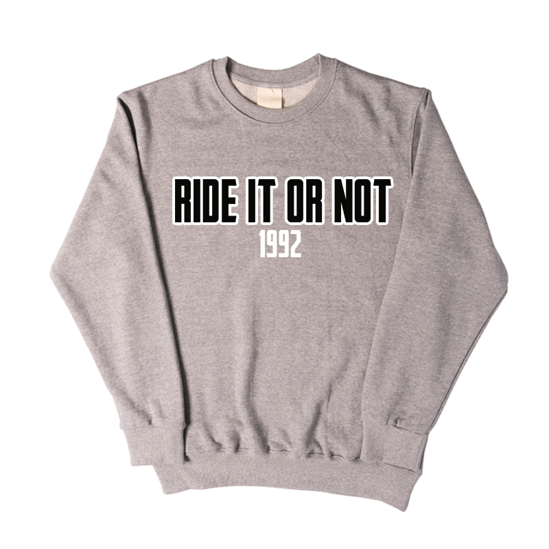 BLACK LOGO GREY SWEATSHIRT