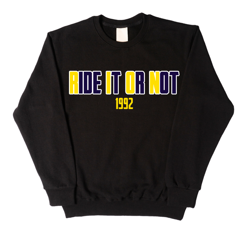 COLOR LOGO BLACK SWEATSHIRT