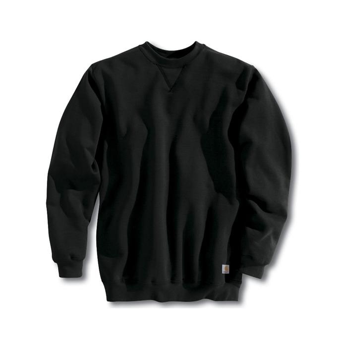 칼하트 미드웨이트 크루넥 블랙 / K124-001