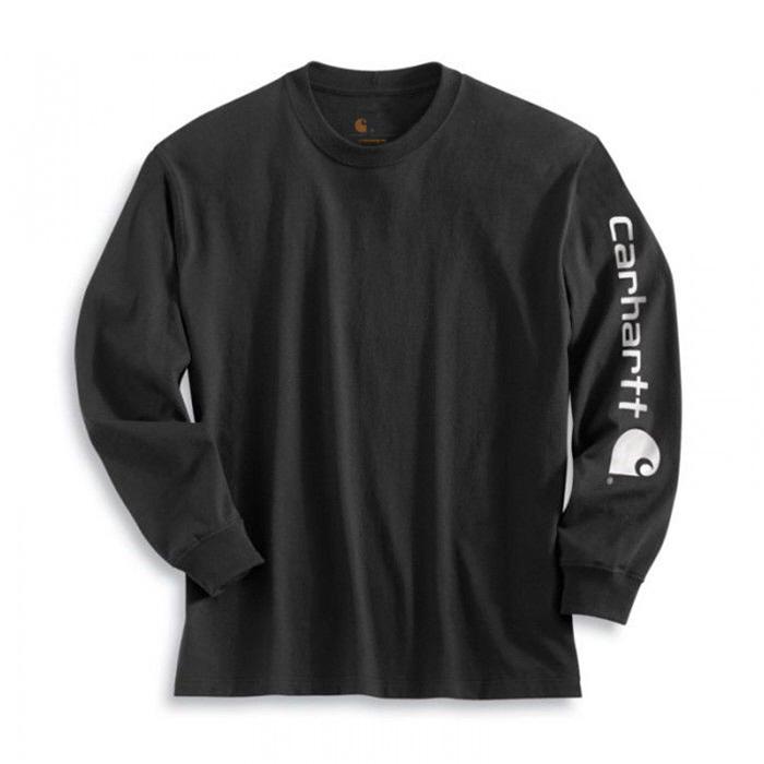 칼하트 시그니쳐 롱슬리브 로고 티셔츠 블랙 / K231-BLACK