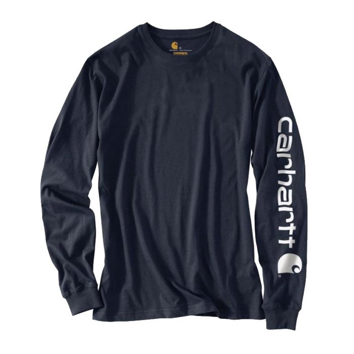 칼하트 시그니쳐 롱슬리브 로고 티셔츠 네이비 / K231-NAVY