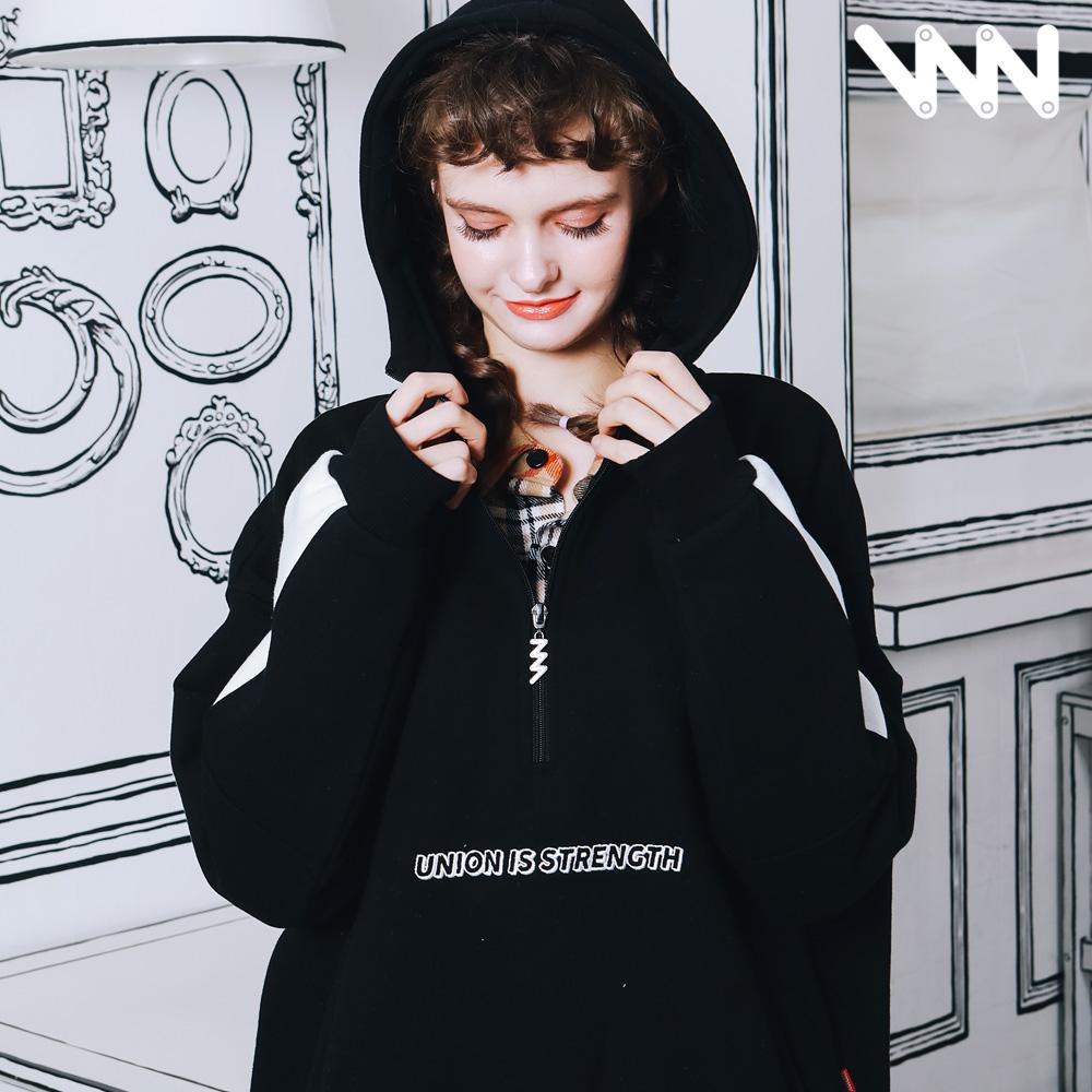 [1/17일까지할인][더블유브이프로젝트] 유니 아노락후드 블랙 MJHD7221