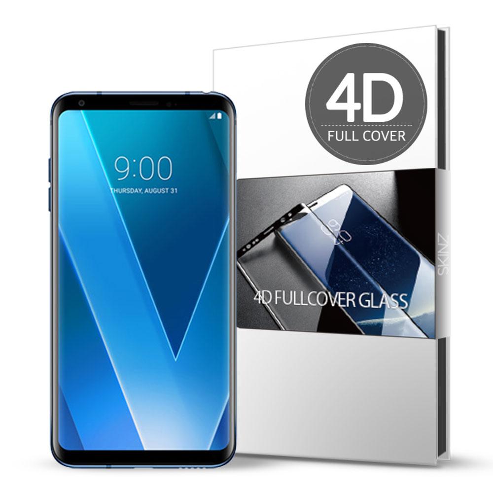 스킨즈 LG V30플러스 4D 풀커버 강화유리 필름 (1장)