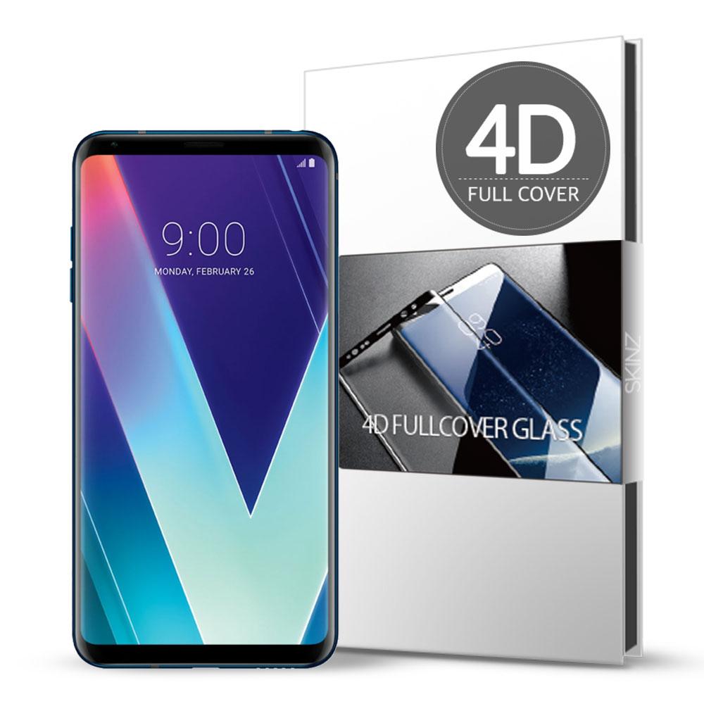 스킨즈 LG V30S 4D 풀커버 강화유리 필름 (1장)