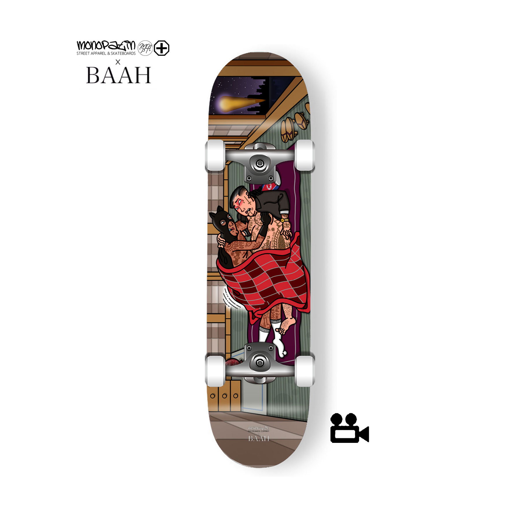 monopatin x BAAH collaboration 컴플릿 스케이트보드