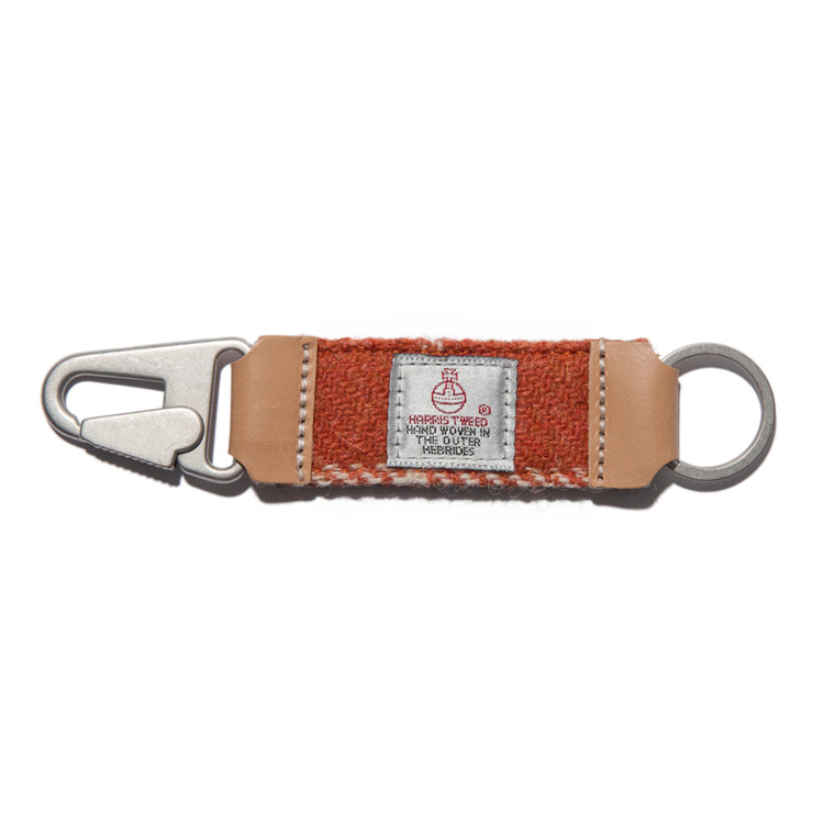 HARRIS TWEED KEY HOLDER - ORANGE