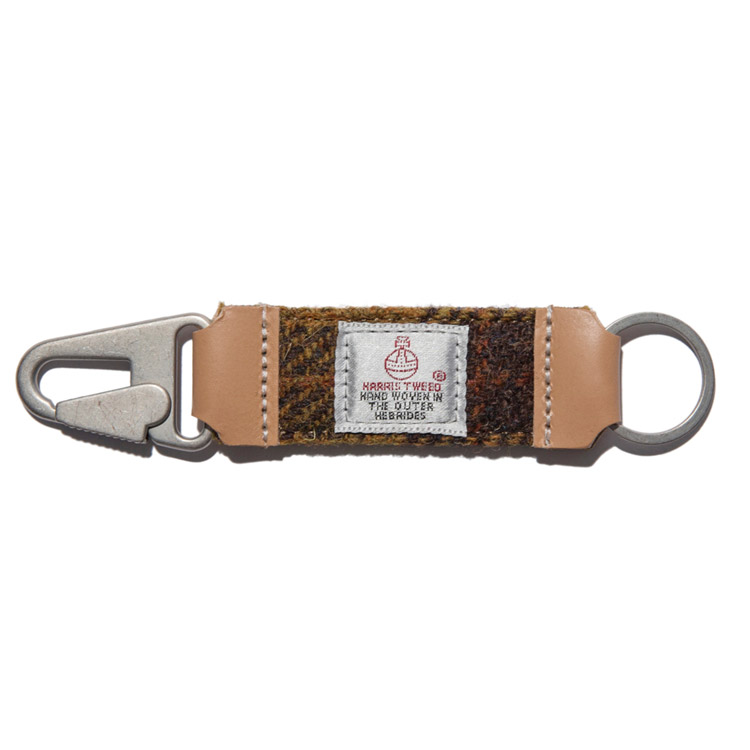 HARRIS TWEED KEY HOLDER - MUSTARD