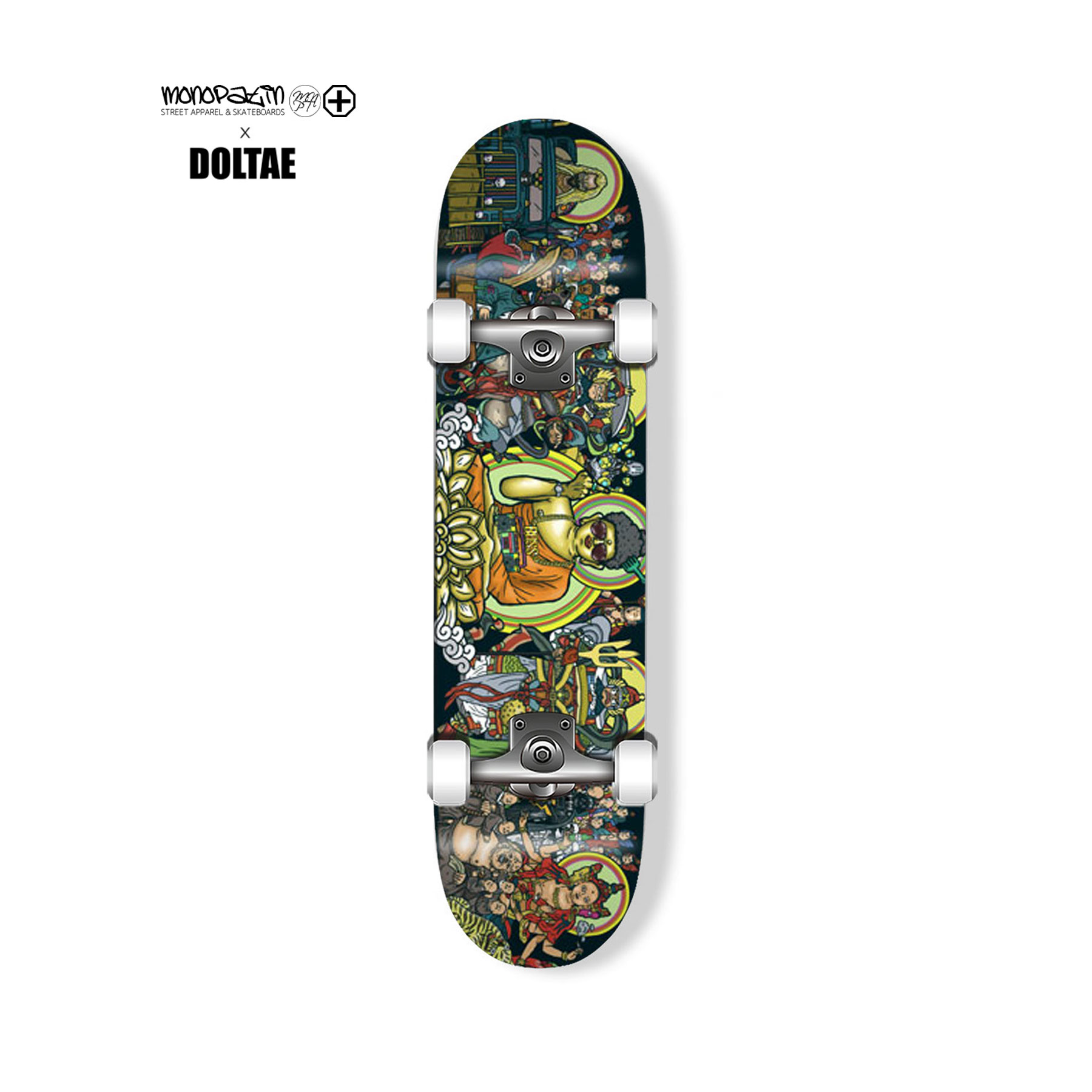 "monopatin x doltae collaboration ""Tanhwa"" 컴플릿 스케이트보드"