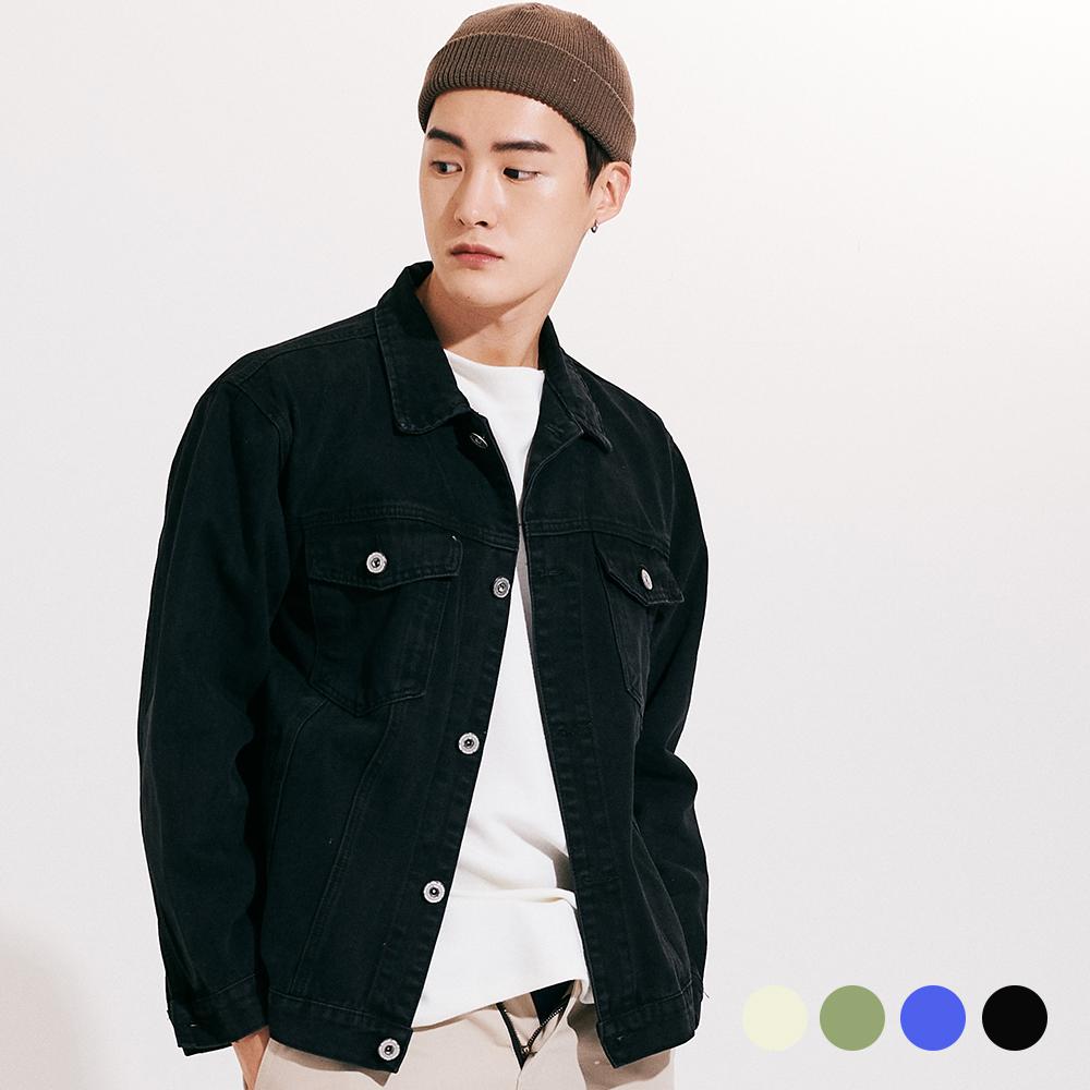 [단독할인](UNISEX) 워싱 베이직 트러커 쟈켓 4COLOR